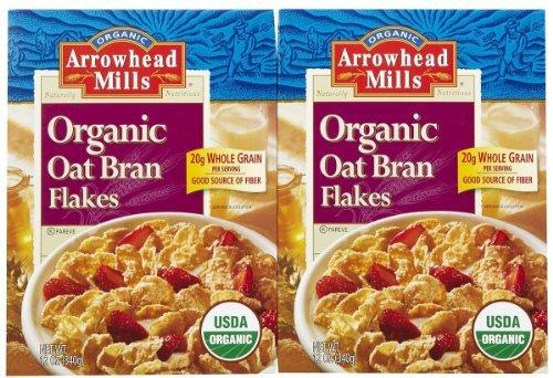 Arrowhead Mills Organic Oat Bran Flakes - 12 oz - 2 pk - Arrowhead Mills Organic Oat