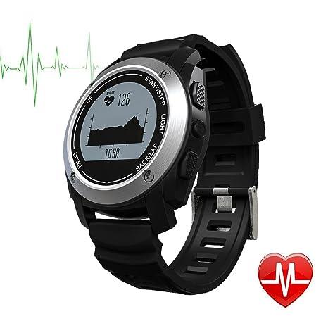 TechCommYang Reloj Deportivo GPS y Pulsometro IP66 Resistente al ...
