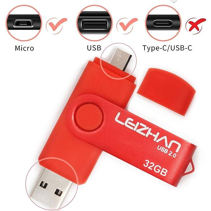 Amazon.com: LEIZHAN 32 GB OTG USB Flash Drive 64GB128GB ...