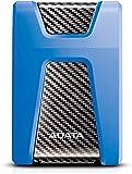 ADATA HD650 USB 3.1 Shock-Resistant External Hard Drive, Blue (1 TB)