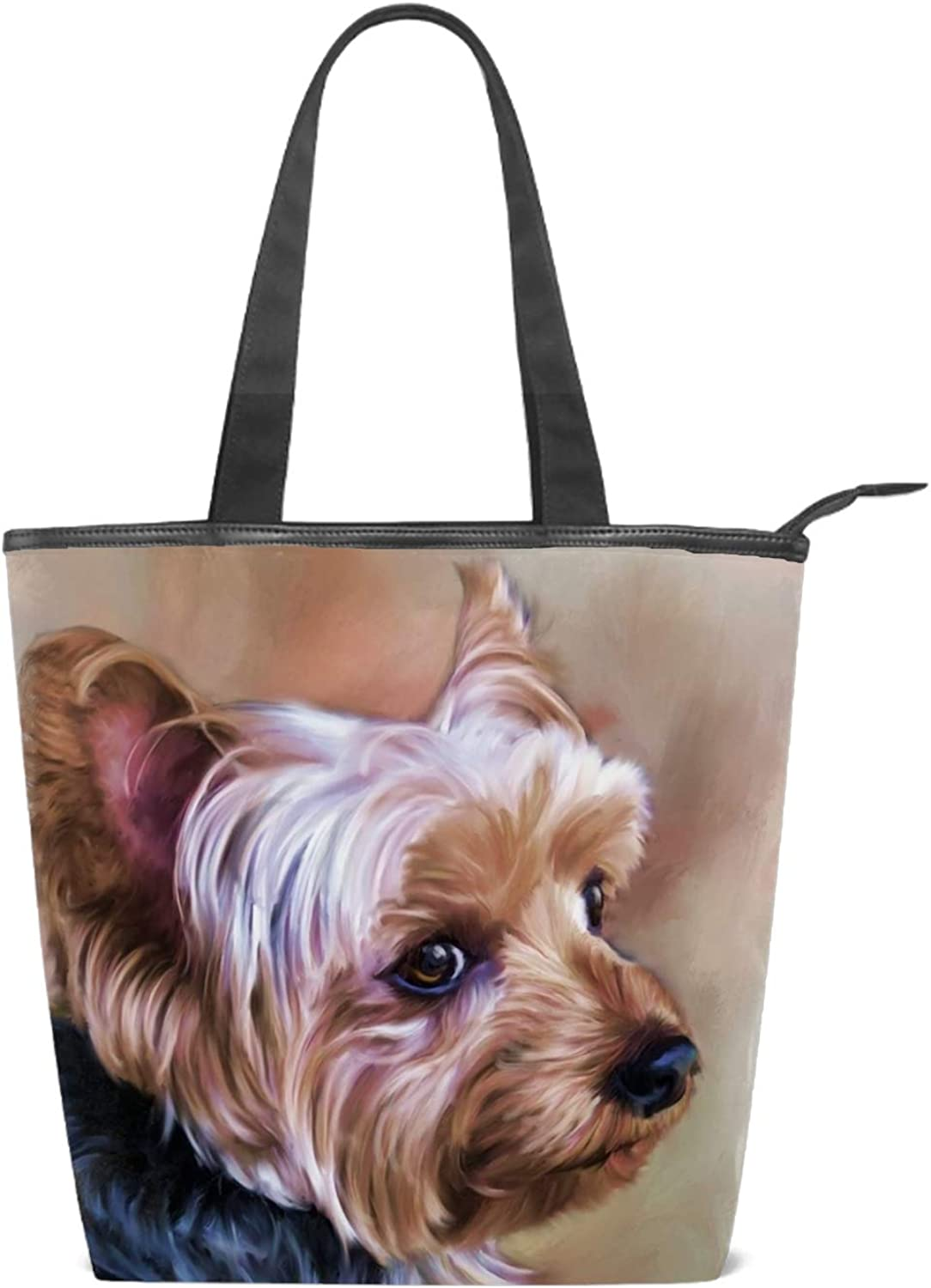 Yorkie Purses and Handbags Dog Tote Bag for Women Dogs Print Purse