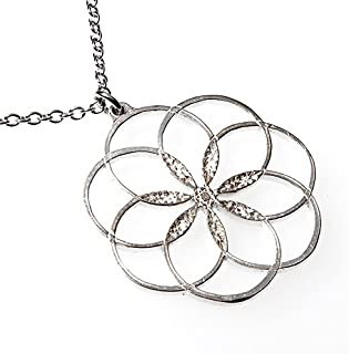 product image for 7 Rings of Peace Silver-Dipped Pendant Necklace