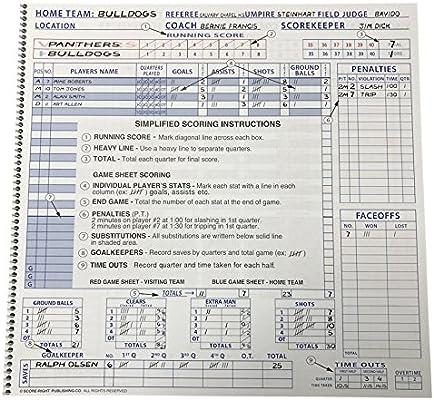 CSI Cannon Sports Womens Lacrosse Scorebook