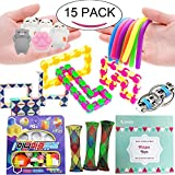 Leeche The Ultimate Handheld Fidget Toys Bundle Prefect Size Party Favors For Kids Puzzle Balls/Squishies Toys/Infinity Cube/Sensory Toys/Fidget Ring Toy For Add Adhd,Christmas Stocking Stuffers