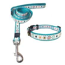 ANNIMOS Pet Dog Cat Collar & Leash