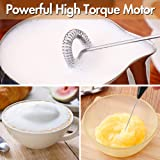 High Powered Milk Frother Handheld Battery Operated