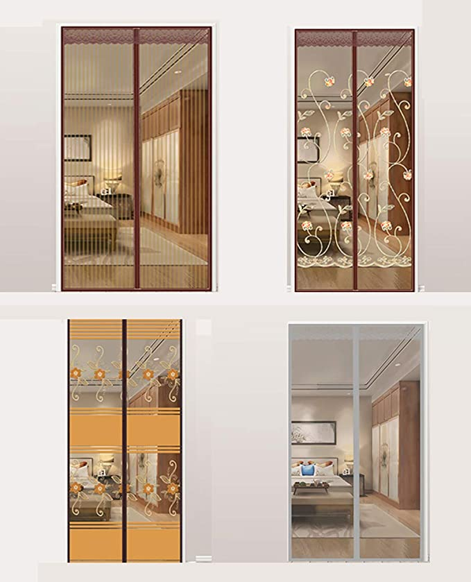 CFJKN Puertas de pantalla con imanes para puerta corredera, malla de poliéster para puerta corredera, duraderas: Amazon.es: Bricolaje y herramientas