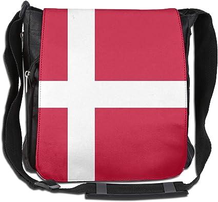 LRHUI Denmark Flag Unisex Multifunction Narrow Single Shoulder Bag Diagonal Travel Bag
