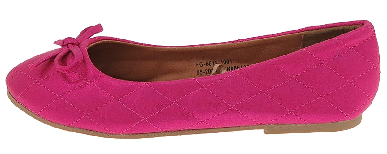 Capelli New York Girls Quilted Shimmer Fabric Flat with Bow