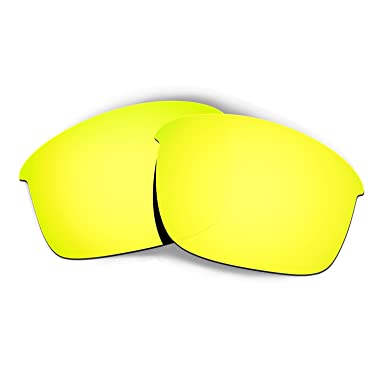 918575fd39 Hkuco Mens Replacement Lenses For Oakley Bottle Rocket Sunglasses 24K Gold  Polarized