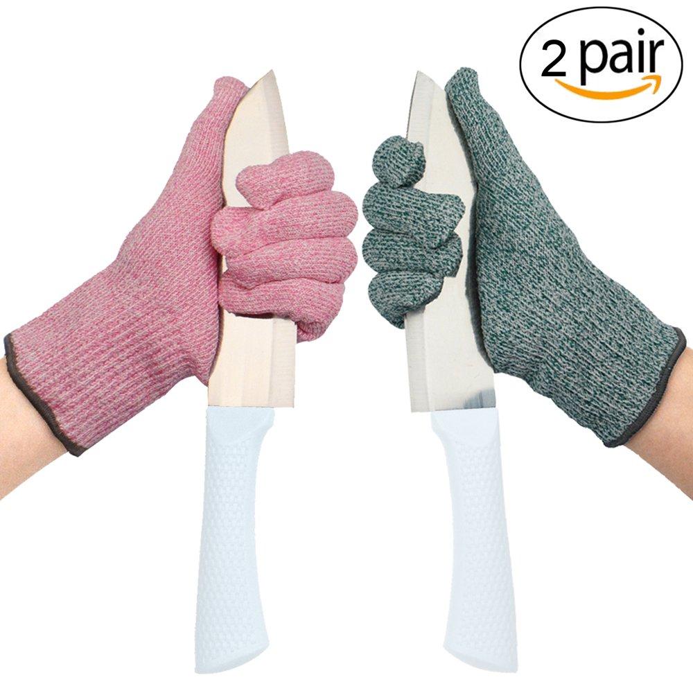 耐カット手袋保護手袋 – Promedix – 高パフォーマンスレベル5保護、食品グレードキッチングローブの手は安全カット、Doing庭作業、キッチングローブ1ペア 2* Medium B078GLJKSR 2* Medium