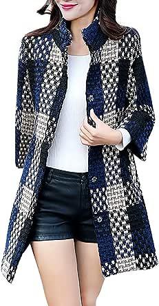 Abrigo Largo de Lana Abrigos para Mujer Rebajas Talla Grande Moda Hebilla Sudadera Jersey Pullover Manga Larga Vintage Señoras Abrigos con Bolsillos Hanyixue