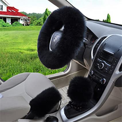 amazon com labellevie universal 3 in 1 furry steering wheel coverimage unavailable image not available for color labellevie universal 3 in 1 furry steering wheel cover