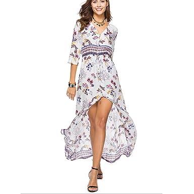Vestido De Playa Europa Y América Primavera Y Verano Falda Larga ...