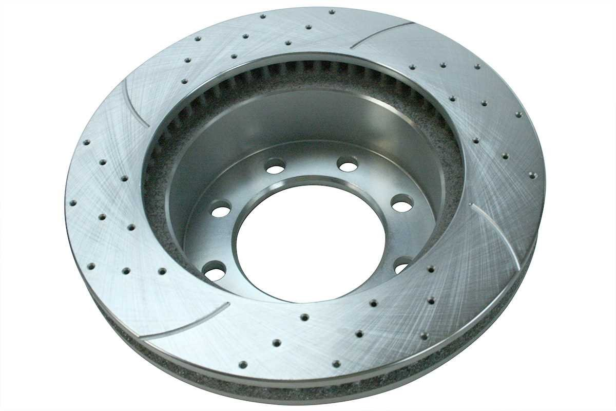 Prime Choice Auto Parts BRKPKG003274 Front Kit Silver Drilled /& Slotted Brake Rotor /& Ceramic Pads