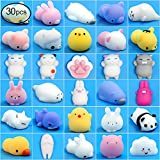Toys : Mochi Animals Squishies Toys 30 PCS Kawaii Mochi Animals Stress Toys Mini Squishies Soft Stretchy Squeeze Toys Mini Rising Panda Seal Polar Bear Fox Rabbit Cat Claw and More Squishies