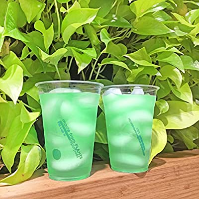 Repurpose 100% Compostable Plant-Based Clear Cold Cup, 16 ounce, 50 count