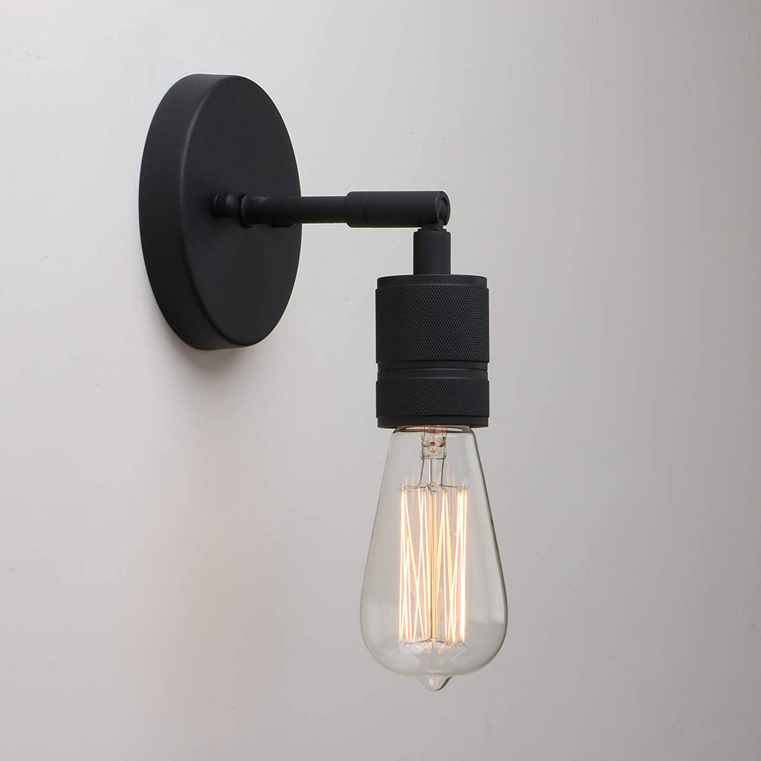 Yosoan Lighting Vintage Up Down Wall Light Industrial Antique Wall Lamp Fitting Fixtures Wall Sconce Edison Lamp For Kitchen Hall Dining Room Bedroom Bar Restaurants Coffee Shop Black Amazon Co Uk Lighting