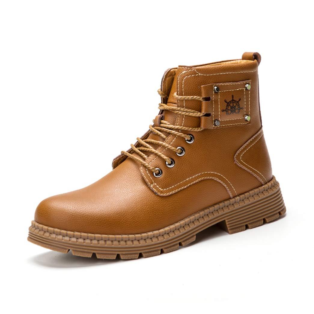 ZXSFC Herren Chelsea Boots Herren Stiefel Leder Stiefeletten