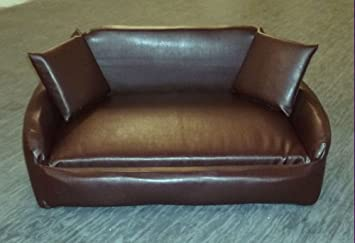 Superb Zippy All Faux Leather Sofa Pet Dog Bed Large Brown Machost Co Dining Chair Design Ideas Machostcouk