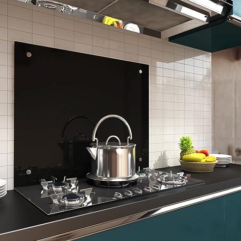 90x60CM Glas Küchenrückwand Spritzschutz ESG Fliesenspiegel Küche ...
