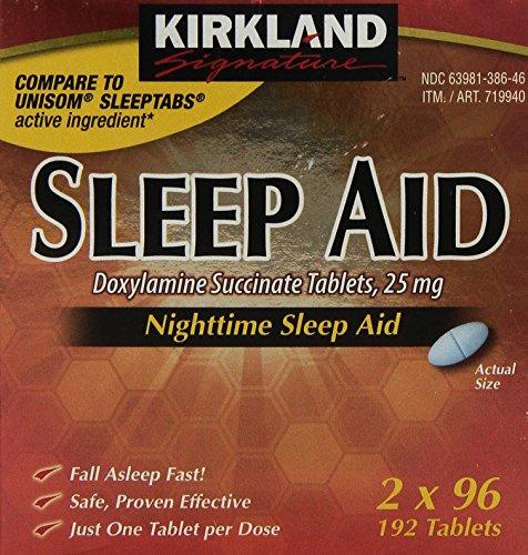 kirkland-signature-nighttime-sleep-aid-doxylamine-succinate-25-mg-192-tablets