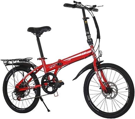 ZIXINGCHE Bike Foldaway - Bicicleta de montaña Plegable ...