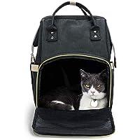WLDOCA Transportbox/Rucksack für kleine Hunde Katzen Kaninchen tragbare Hund Haustier Verstellbare Sichere Taschen Rucksack für Outdoor-Reisen Wandern 25 x 18 x 42 cm(Schwarz)