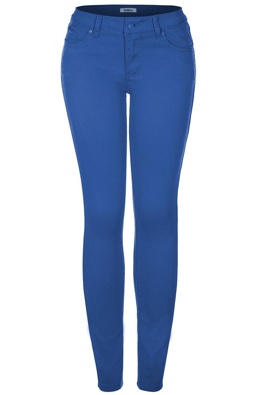 2LUV Women'sStretchy 5 Pocket Skinny Jeans Royal Blue 15 (G603A)