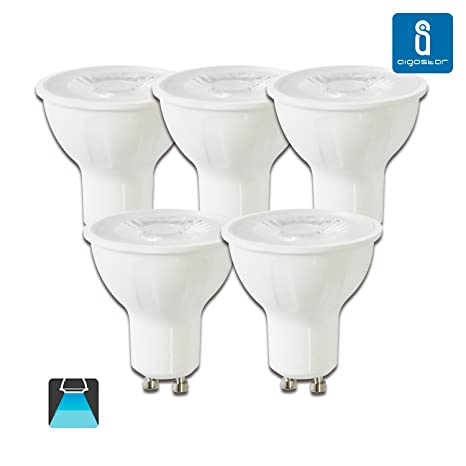 Aigostar -Bombilla LED 6W GU10 COB, Luz blanca fría 6400K, 330lm, 6W