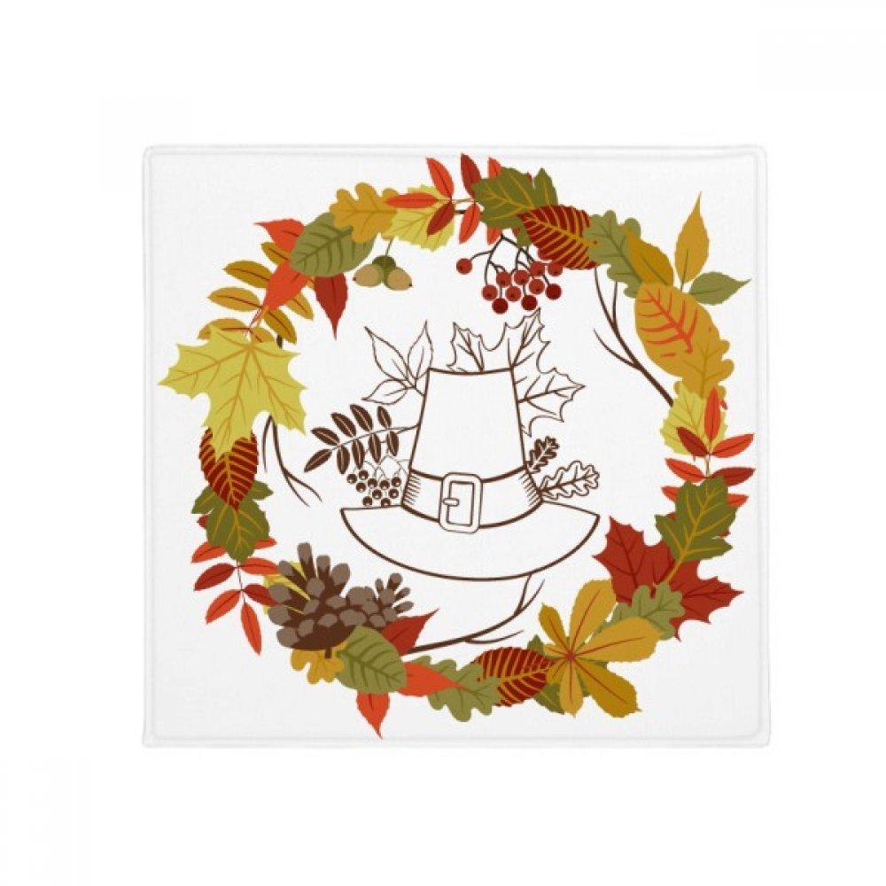DIYthinker Garland Thanksgiving Day Leaf Pattern Anti-Slip Floor Pet Mat Square Home Kitchen Door 80Cm Gift