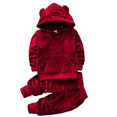 ZYS - Chándal - para niño rojo 90 cm: Amazon.es: Ropa y accesorios
