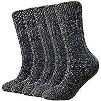 5 Pack Hi Clasmix Wool Winter Soft Thick Warm Hiker Boot Crew Socks