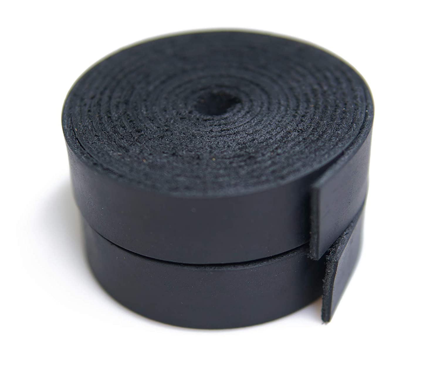 Pure Black Jeereal Leather Strap 2.0mm Thick Cord Braiding String for Crafts//Tooling//Workshop Handmade 3//4inch Wide,72inches Long