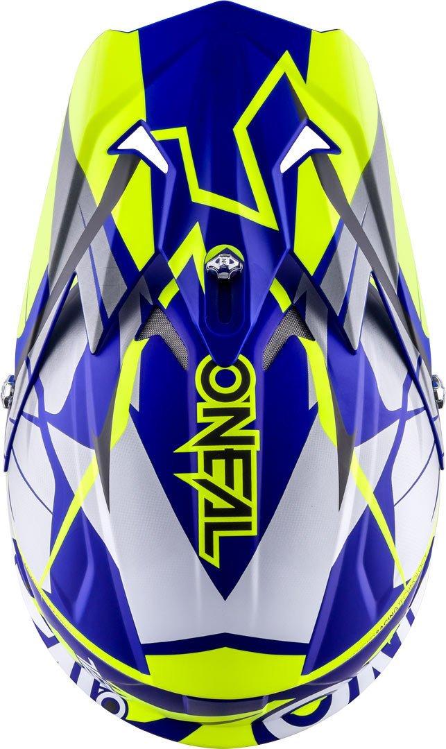 O Neal Casco 3series Freerider Fidlock Blu Hi Viz Neon Giallo MX Motocross Enduro Quad Cross 0626/ /00