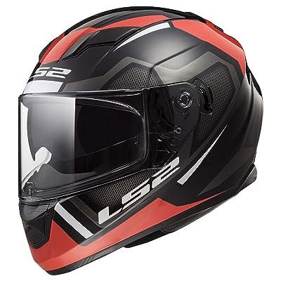 LS2 Helmets Full Face Stream Street Helmet (Axis Matte Red/Black - X-Small): Automotive
