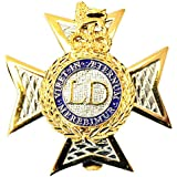 Issue Light Dragoons Cap / Beret Badge by Unknown
