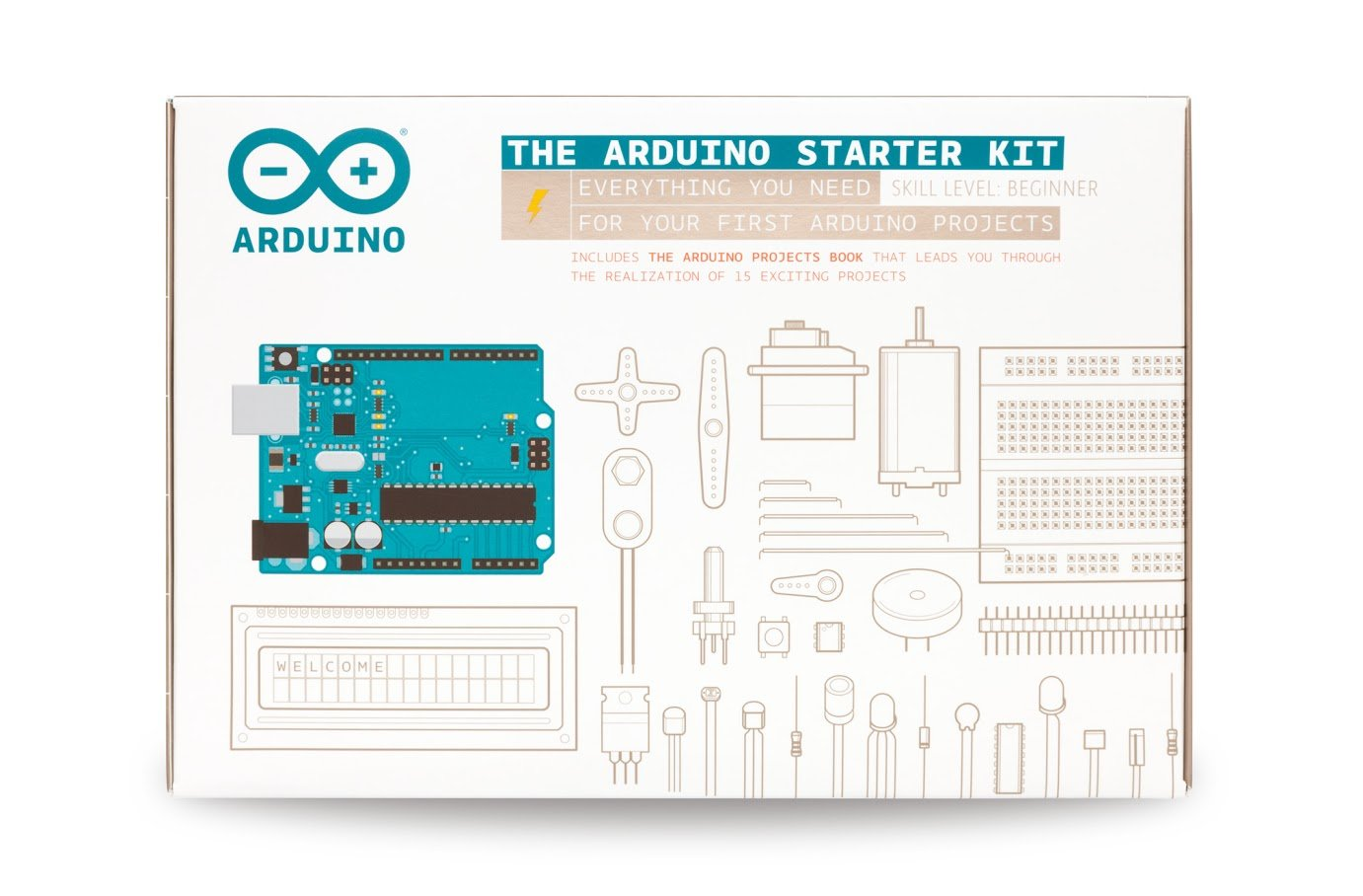Arduino Starter Kit For Beginner K000007 English Projects Book Line Following Robot Without Microcontroller Computers Accessories