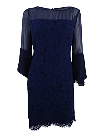c5ab5564fe94d Image Unavailable. Image not available for. Color  Lauren by Ralph Lauren  Women s Floral Bell-Sleeve Dress (14