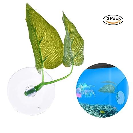 GoodFaith planta artificial verde hierba de agua para pecera acuario decoración 2 piezas