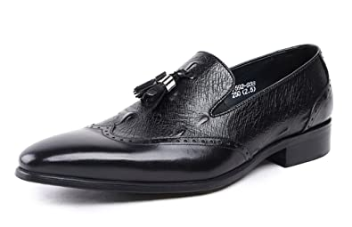 Men's Cow Leather Formal Loafer Oxford With Tassel