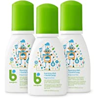 Babyganics Foaming Dish & Bottle Soap for Travel, Fragrance Free, Packaging May Vary, 3.38 Fl Oz (Pack of 3)