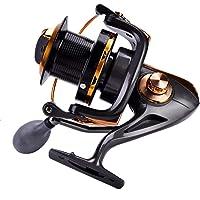 Dioche Carrete de Pesca de Fundición, 12 + 1BB Alta Velocidad Casting Metálico Spinning Sea Fishing Reel Wheel Tackle Accesorios