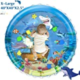 iHaHa Baby Tummy Time Water Play Mat, 40''X40'' Infant Inflatable Water Play Mat Toys for 3 6 9 12 Months Newborn Infant Toddler Baby Boy Girl