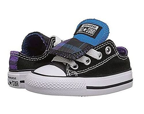 8d3730703bf13 Converse All Star Double Tongue Kids Shoes (13 Little Kid M, Black ...