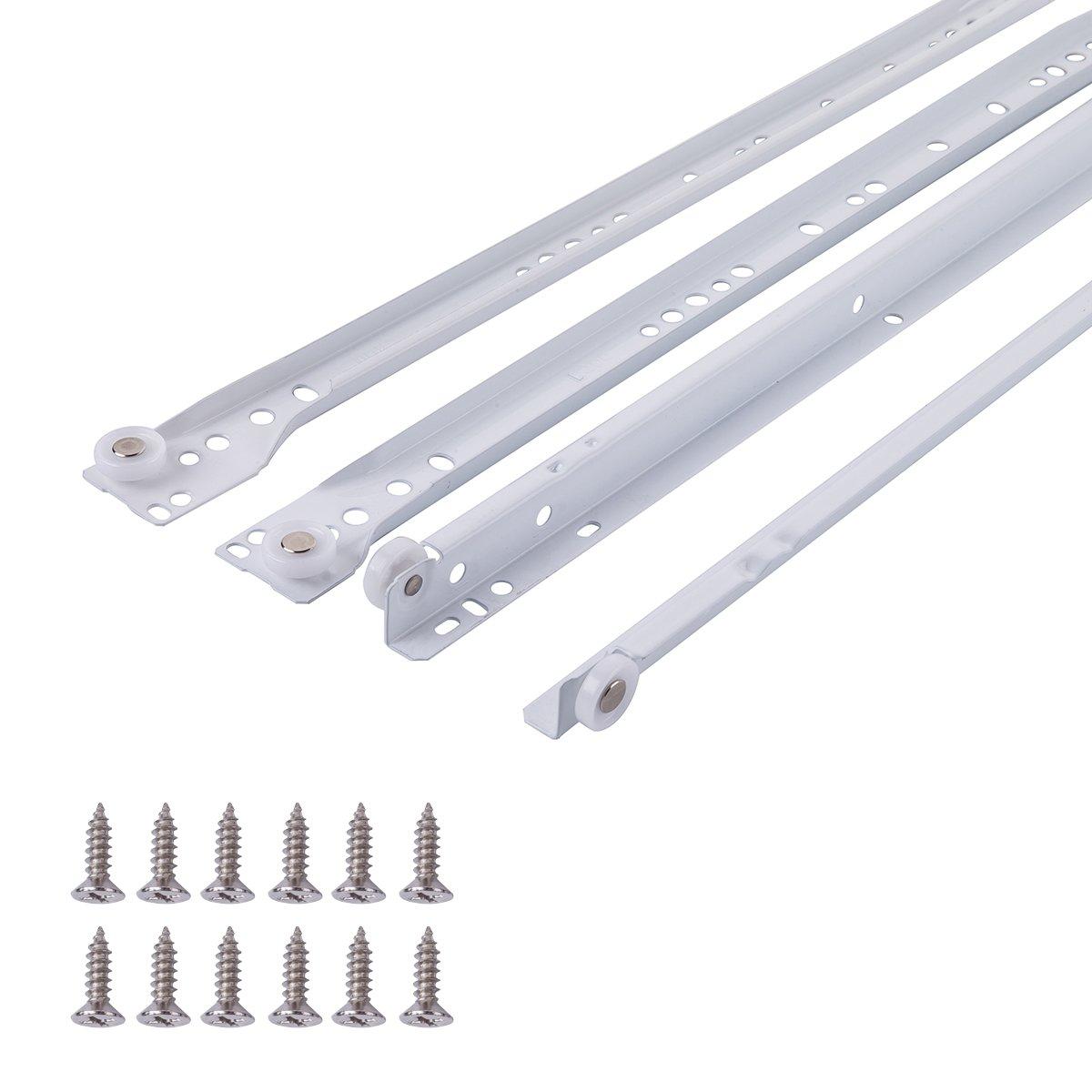45,72 cm pintura en polvo blanca AB5011-R18-10 Correderas de cajones Basics