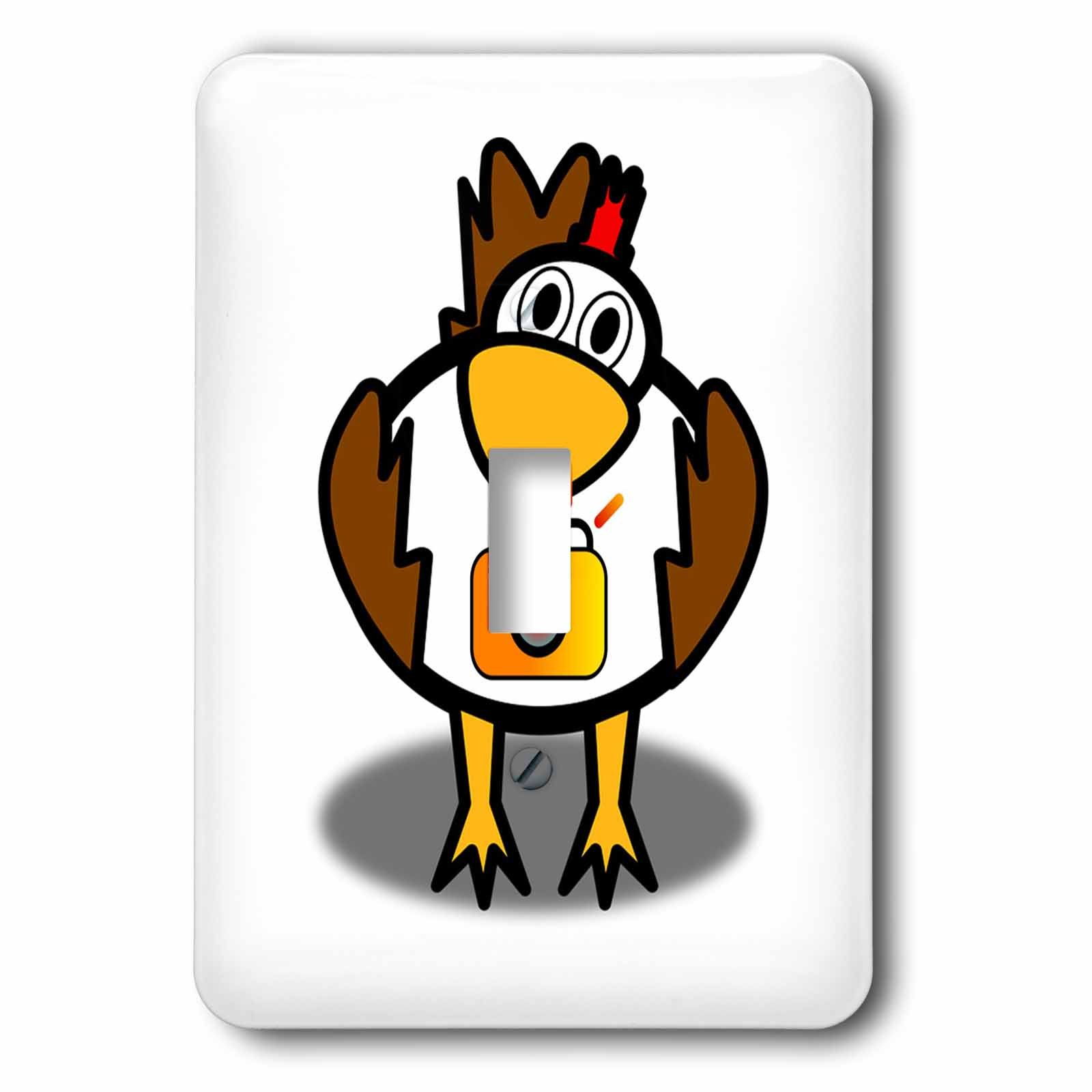 3dRose Cartoon Animal Humor - Image of Cartoon Chicken Holding A Camera - Light Switch Covers - single toggle switch (lsp_273371_1)