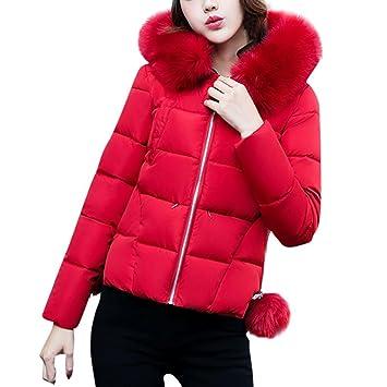Abrigos de mujer Invierno Plumas, LILICAT Invierno más delgado abrigo delgado con sombrero, Ropa de abrigo Chaqueta Cremallera Elegante: Amazon.es: Deportes ...