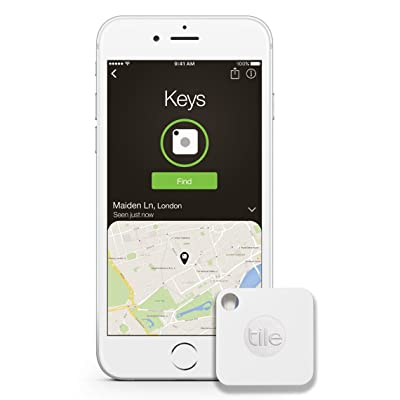 Tile Mate Key Finder - 4 Pack - White (Renewed): GPS & Navigation