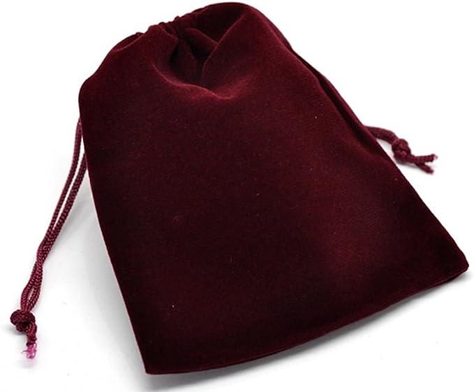 herbs 40 3 x 4 Purple and Orange Velvet bags favor bags wedding packaging beads